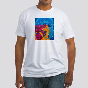 Flute Player Fitted T-Shirt