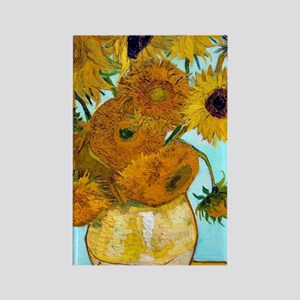 441 VG Sunflowers Rectangle Magnet