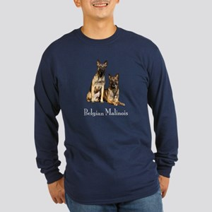Belgian Malinois Pair Long Sleeve Dark T-Shirt