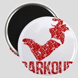 distressed parkour red Magnet