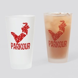 distressed parkour red Drinking Glass