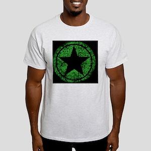 distressed green starMP Light T-Shirt