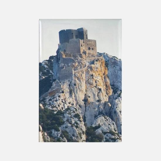 Chateau de Queribus. Chateau de P Rectangle Magnet