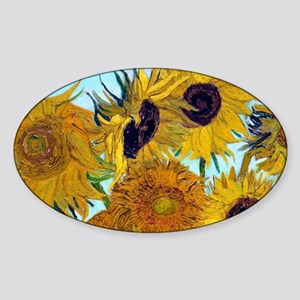 Coin VG Sunflowers Sticker (Oval)