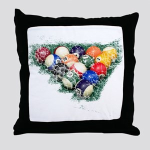 distressed billiards Throw Pillow