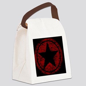 distressed red star MP Canvas Lunch Bag