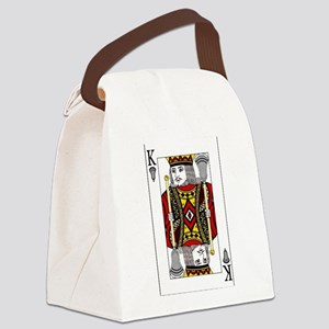 Lacrosse King of Spades Canvas Lunch Bag