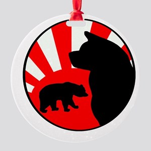 Bear Sun logo (dark, no text) Round Ornament