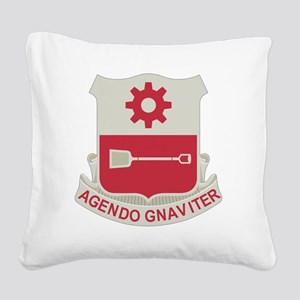 577th Army Engineer Battalion Square Canvas Pillow