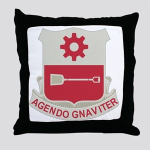 577th Army Engineer Battalion Militar Throw Pillow