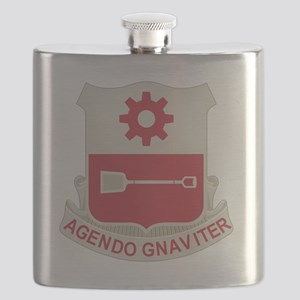 577th Army Engineer Battalion Military Patch Flask
