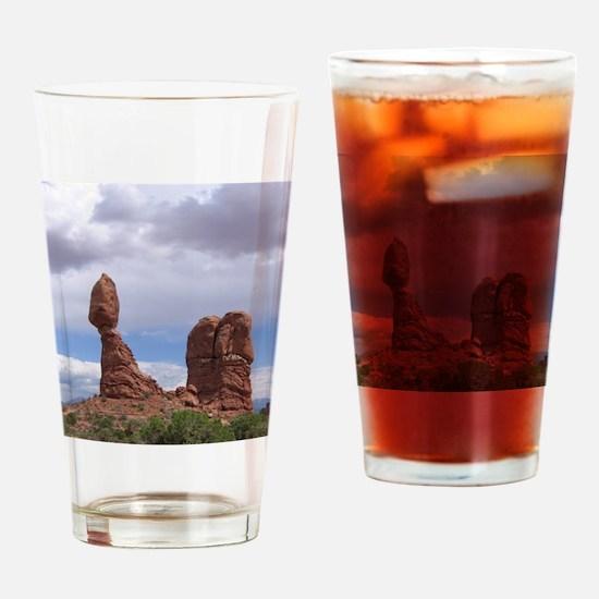 balanced rock Drinking Glass