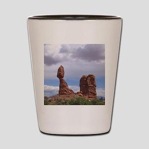 balanced rock Shot Glass