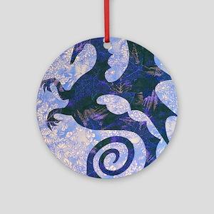 Blue Drake Round Ornament