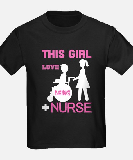This Girl Love Being Nurse T Shirt T-Shirt