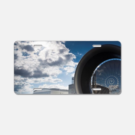 Tour of the Airbus aircraft Aluminum License Plate