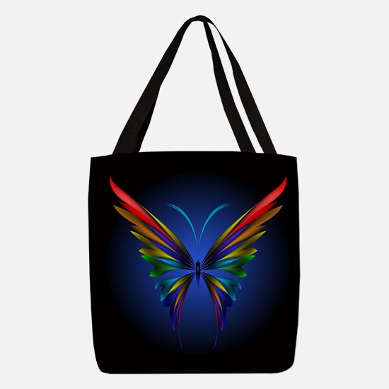 Abstract Butterfly Polyester Tote Bag