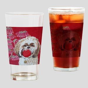 SQ Lhasa Apso Drinking Glass