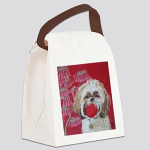 SQ Lhasa Apso Canvas Lunch Bag