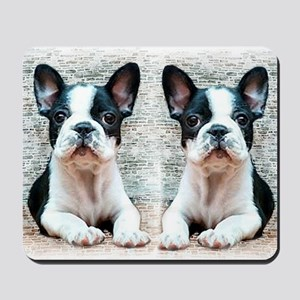 flip flops french bulldog Mousepad