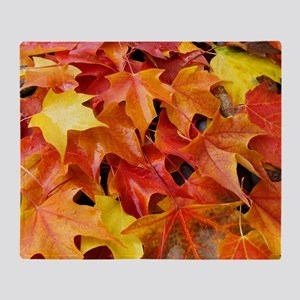 Autumn Leaves 69 Fall Art Colorful F Throw Blanket