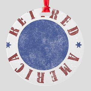 American Round Ornament