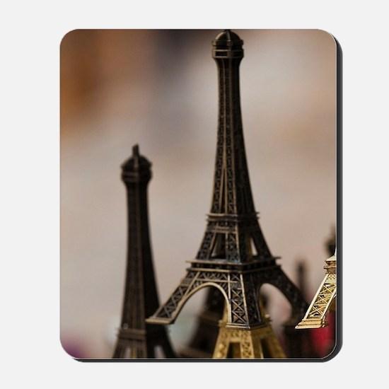 France, Paris, Left Bank, souvenir Eiffe Mousepad