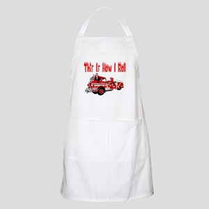 How I Roll- Fire Truck BBQ Apron