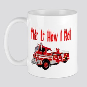 How I Roll- Fire Truck Mug