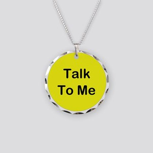 Talk To Me Necklace Circle Charm