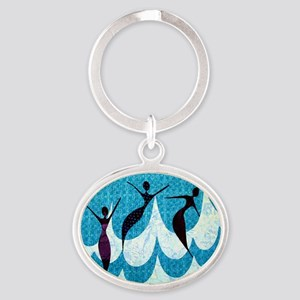 Emerge Blue Oval Keychain