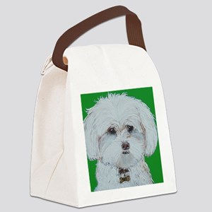 4x6 Maltese Canvas Lunch Bag