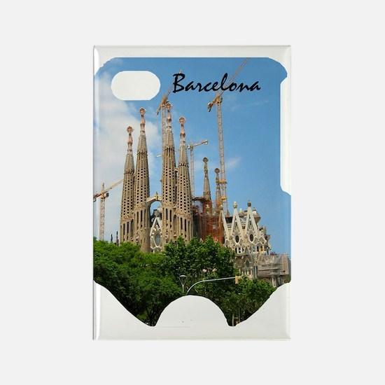 Barcelona_2.34x3.2_iPhone4 Slider Rectangle Magnet