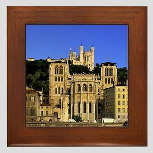 Jean and Basilique Notre Dame de Fourv Framed Tile