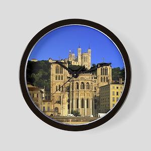 Jean and Basilique Notre Dame de Fourvi Wall Clock
