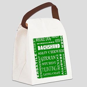 DACHSHUND_edited-1 Canvas Lunch Bag