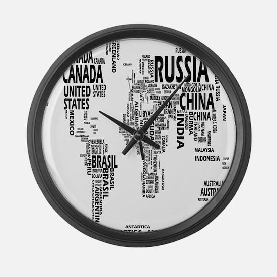 World map clocks world map wall clocks large modern kitchen united states large wall clock gumiabroncs Image collections