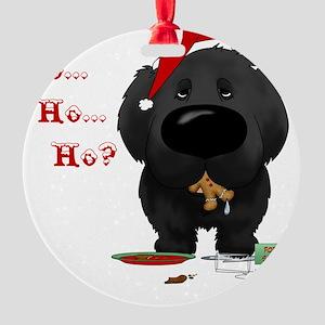 NewfieBlueShirt Round Ornament