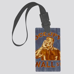 Occupy Wall Street American Work Large Luggage Tag