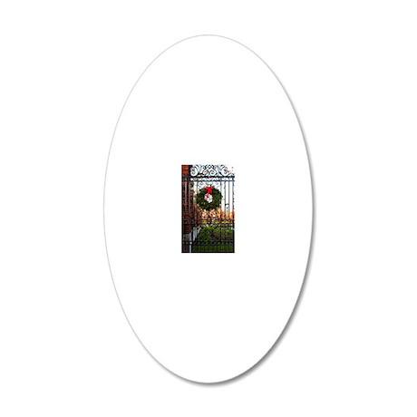 Wreath 20x12 Oval Wall Decal
