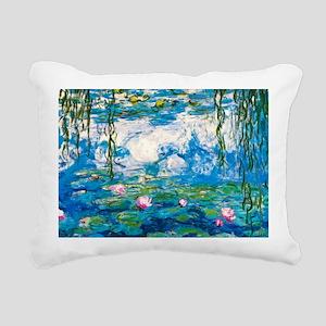 Laptop Monet Nymph Rectangular Canvas Pillow