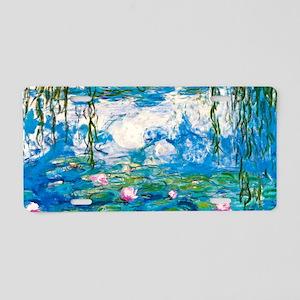 Laptop Monet Nymph Aluminum License Plate