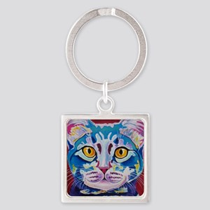 cat - mystery reboot Square Keychain