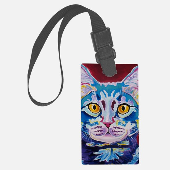 cat - mystery reboot Large Luggage Tag