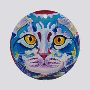 cat - mystery reboot Round Ornament