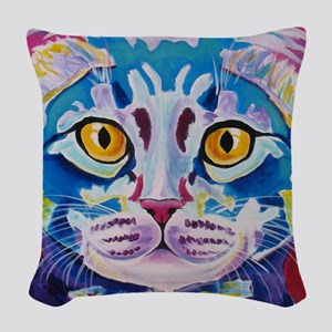cat - mystery reboot Woven Throw Pillow