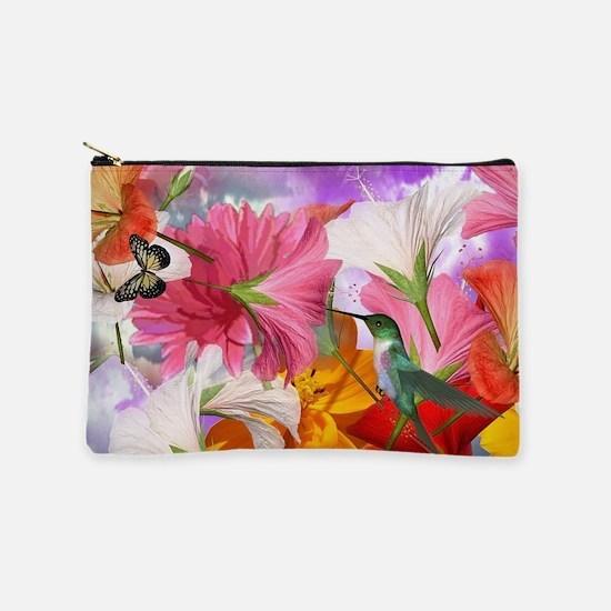 Hibiscus Butterflies Makeup Pouch