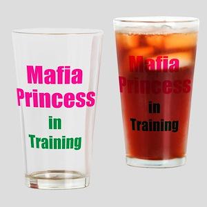 Mafia princess in training new Drinking Glass