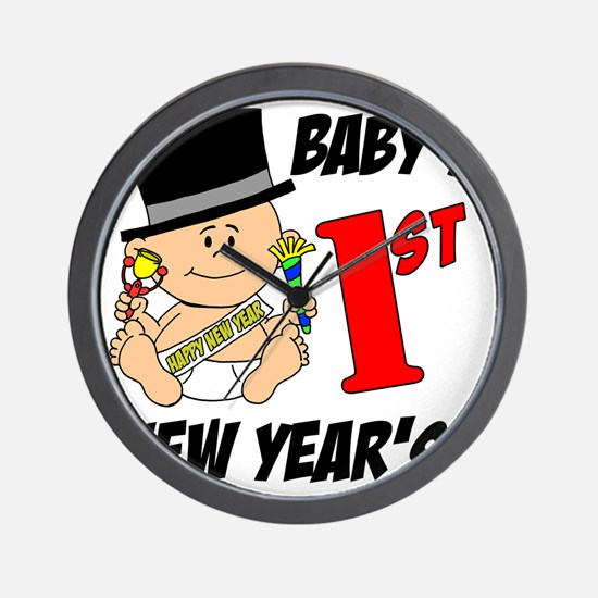Babys First New Years Wall Clock