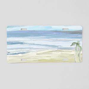 Beach Woman Aluminum License Plate
